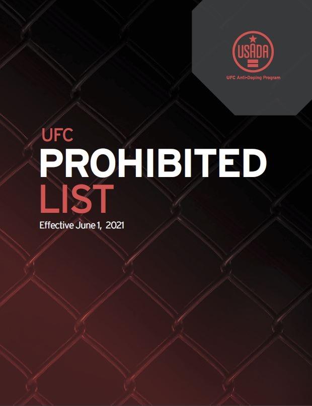 UFC Prohibited List Effective June 1, 2021.