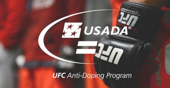 UFC glove with USADA UFC logo overlaid