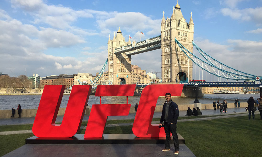 gabe baida at UFC in London