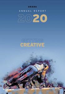 2020 USADA Annual Report cover image.
